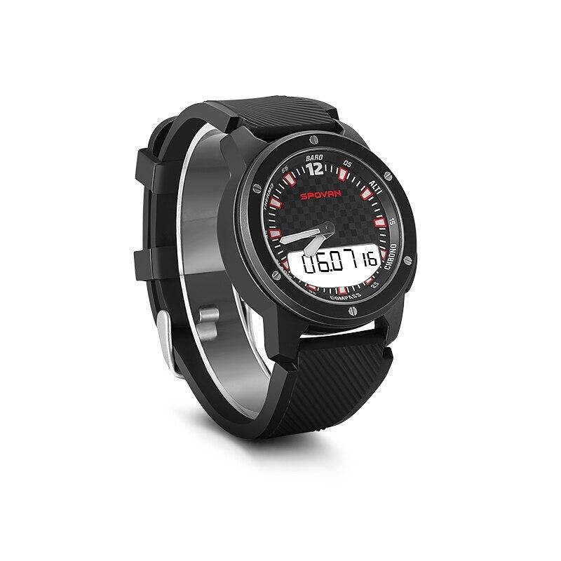 Saatler'ten Dijital Saatler'de SPOVAN lüks marka erkek spor saatler dalış 50m dijital LED askeri İzle erkekler moda Casual elektronik saatı Relojes'da  Grup 1