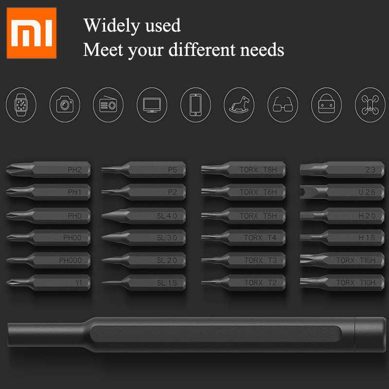 Original Xiaomi Mijia Wiha Daily Use Screw Kit 24 Precision Magnetic Bits Alluminum Box Screw Driver Global Version smart home