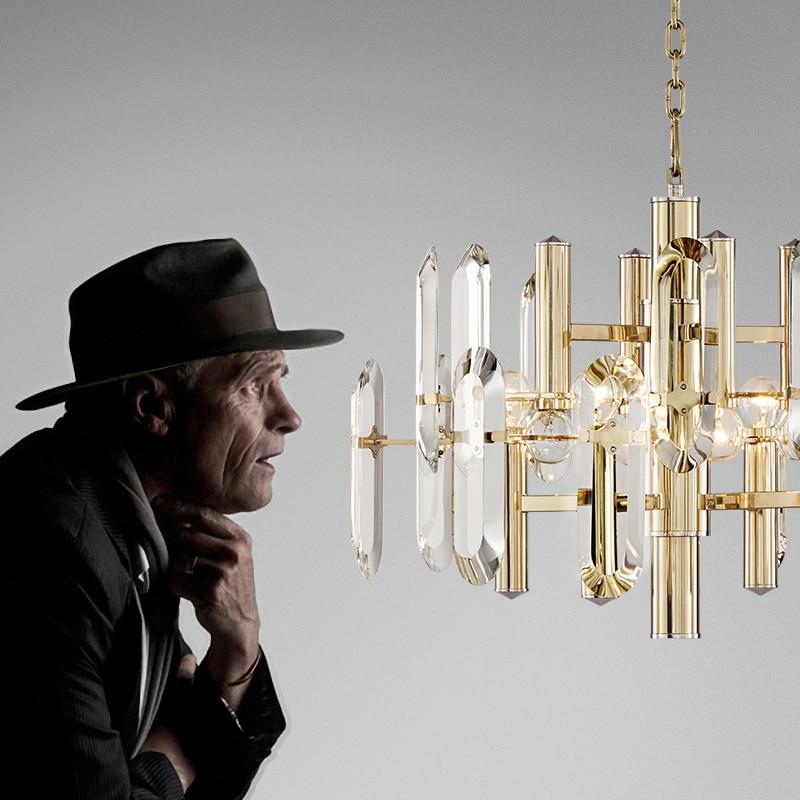 Lumină de pandantiv de cristal de lux Lampa suspendată cu cristale - Iluminatul interior - Fotografie 4