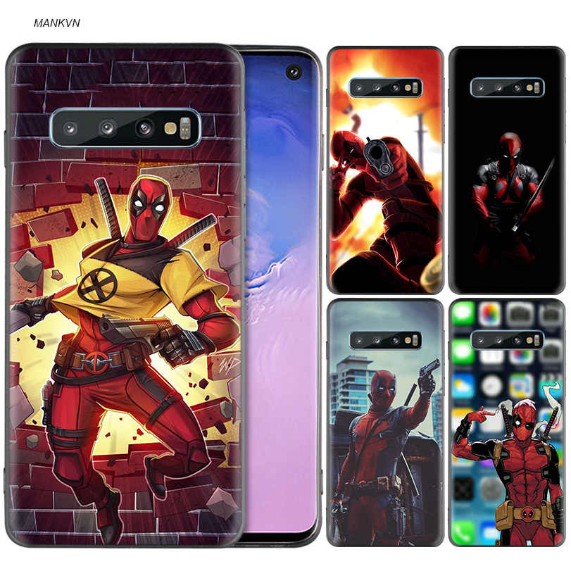 Marvel deed pool Deadpool Black Silicone Case for Samsung Galaxy M20 S10e S10 S9 M10 S8 Plus 5G S7 S6 Edge Cover Coque