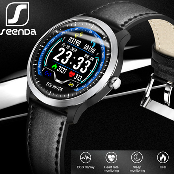 SeenDa ECG PPG Smart Watch with Electrocardiograph Ecg Display Holter Heart Rate Monitor Fitness Tracker Android IOS Smartwatch