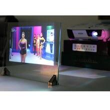 3d holográfico filme de projeção adesivo traseiro tela do projetor a4 tamanho 1 peça amostra 4 cor opcional