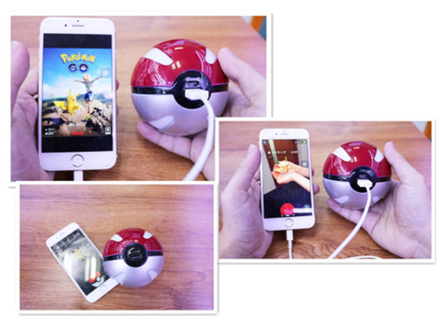 10000mah Pokeball Power Bank Charger Custom Christmas Gift Game Pokemons Go Plus Powerbank Mobile Poke ball Plush Toy Power Bank