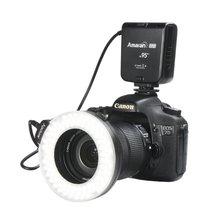 A puture A Maranรัศมีอาห์แหวนLEDแสงแฟลชสำหรับCanonกล้องกล้องDLSR 5D M ARK II III 650D 550D 700D 7D 5D2 60D