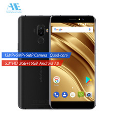Ulefone S8 PRO Dual Rear Cam MTK6737 Quad Core Android 7.0 Smartphone 5.3 Inch 3000mAh 16G ROM Fingerprint 4G LTE Mobile Phone(China)