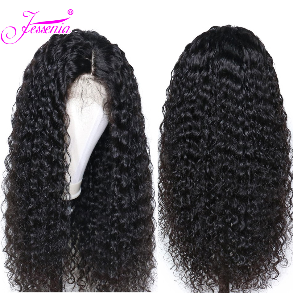 Deep Part Curly Human Hair Wigs 13*4 Wet And Wavy Lace Front Wigs Brazilian Lace Frontal Wig Remy Hair Pre Plucked Bleached Knot