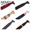 Knitted Slim Ties 5cm Dot Striped Necktie Wool Skinny 2017 New Fashion Designer Dress Narrow Plaid Red Black Gray Ties for Men