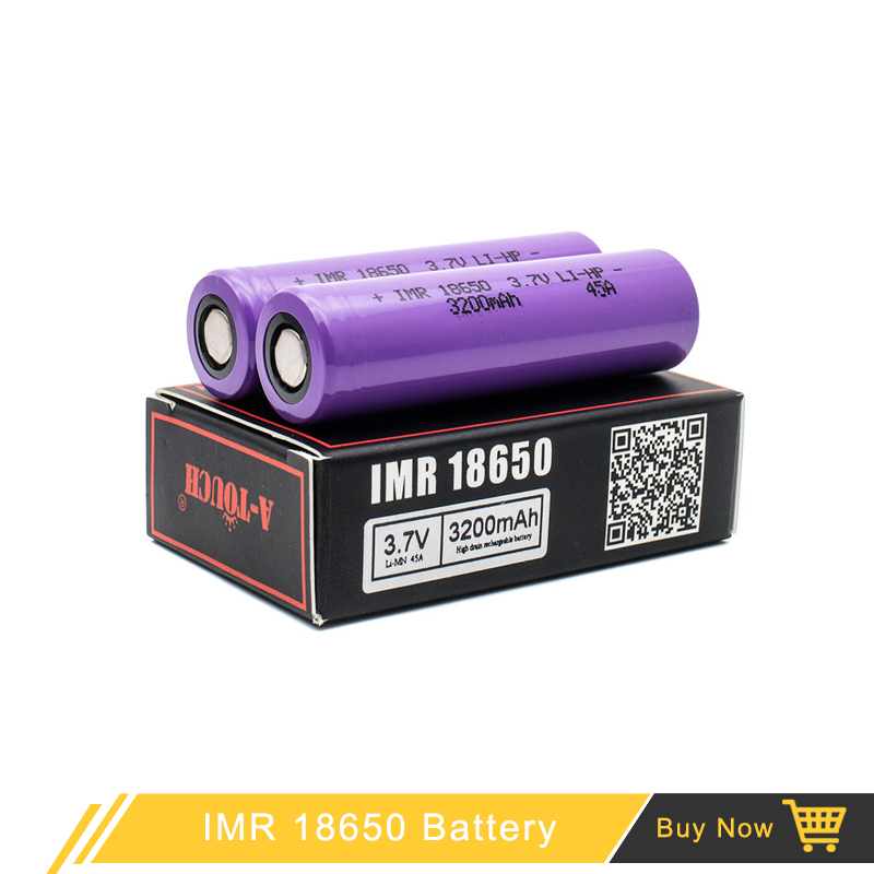 Electronic Cigarette Battery Atouch High drain 18650 Battery 3200mah IMR 18650 3.7v 40A Batteries for Vapor Mod аккумулятор 18650 lg he4 high drain 2500mah 20a 35a