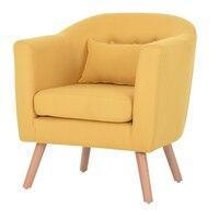 Современный диван 1 один сиденье простой Дизайн Гостиная мебель кресло для отдыха кресло белье, обивочные и деревянные ножки