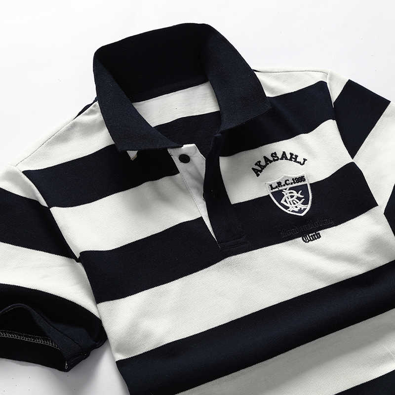 New Brand Polo Shirt Men Cotton Striped Summer Polo Shirts Short Sleeve Poloshirts Mens Casual Business Quality Clothing 608