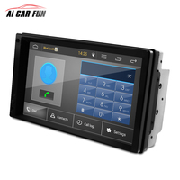 New LN 5127 7'' 2Din Capacitive Quad Core Car Stereo Radio Player Touch Screen Portable GPS Navigation FM MP3 MP5 Plyer with Map