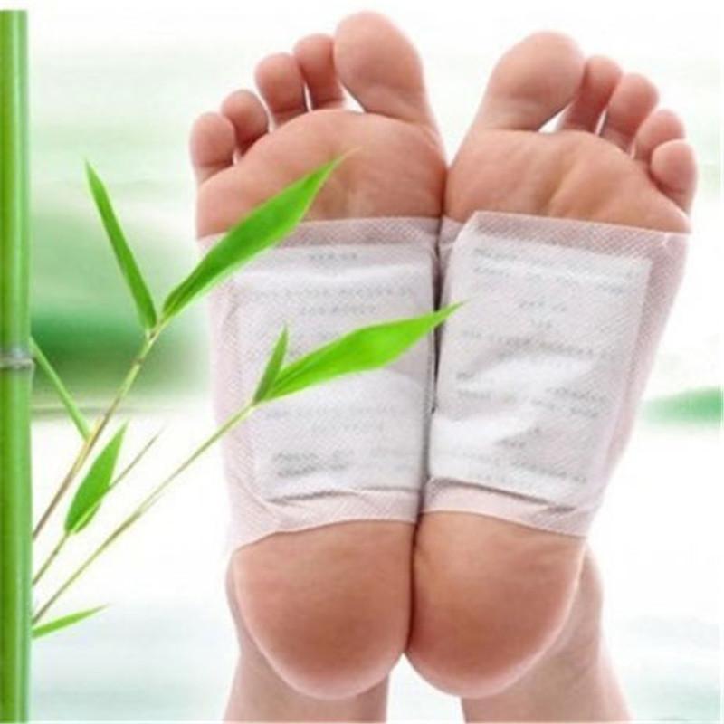 Горячая!!! 100 шт./лот Ноги Detox Pad Патч Ноги Уход За Телом Массажер Бамбук Травяной Штукатурка Снятие Стресса Помощи сон Здравоохранения
