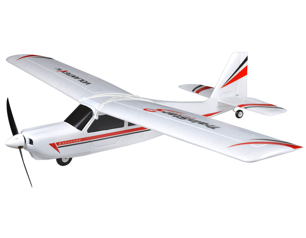 Volantex TrainStar Ex RC KIT Plane Model W/O Brushless Motor Servo ESC Battery volantex super decathlon rc rtf plane model w brushless motor servo esc battery