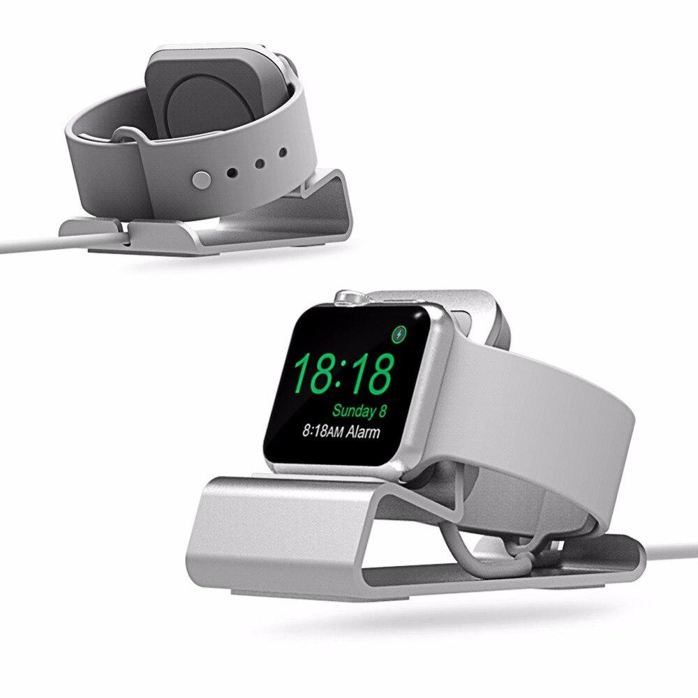 Pour apple watch 3 2 1 38mm 42mm Support De Charge, pop prise En Aluminium chargeur Dock Station pour apple watch stand Support Berceau