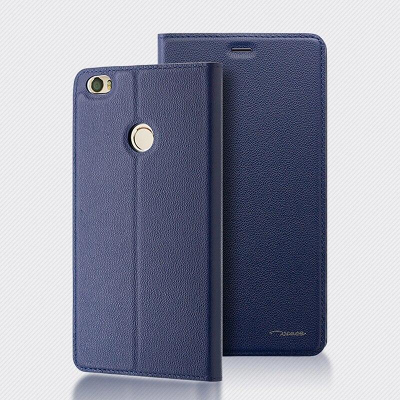 promo code 5ab56 2a166 xiaomi mi max 2 case Genuine leather stand magnetic flip cover case for  xiaomi mi max back coque