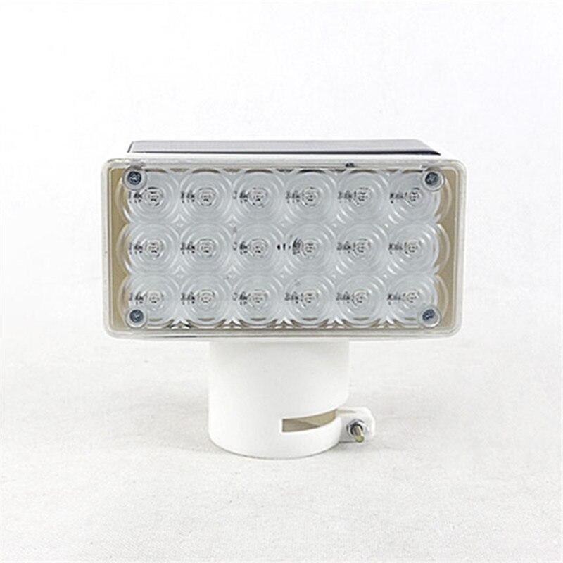Waterproof LED Solar Super Bright Strobe Warning Lights Square Wall Street Path Lamp Indication Road Traffic Emergency Lighting