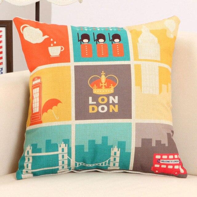Arround the World Throw Pillowcase 5