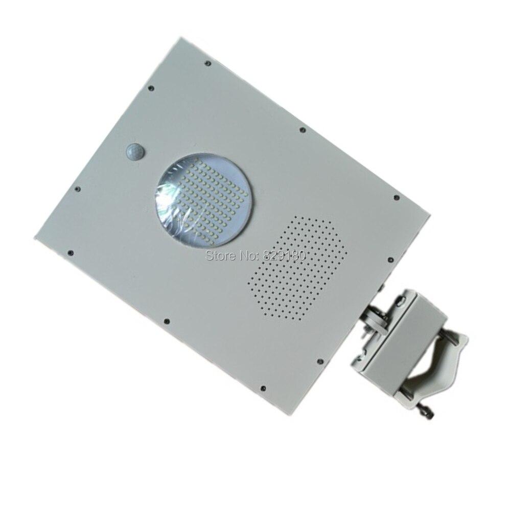4 pièces 12 w lampadaire solaire LED, lumière de capteur solaire, 18 w panneau solaire 9ah batterie tout en un, lumière solaire extérieure intégrée