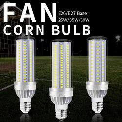 E27 Led 50 W вентилятор охлаждения лампы кукурузы 35 W светодиодные лампы высокой Мощность E26 Led 110 V свечи лампочки 5730 без мерцания освещения 25 W