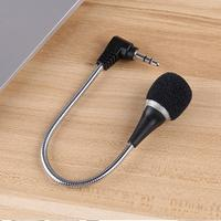 2019 Good Sale 3.5mm Flexible Mini Microphone Mic for Laptop Notebook PC Podcast Skype Chat J21