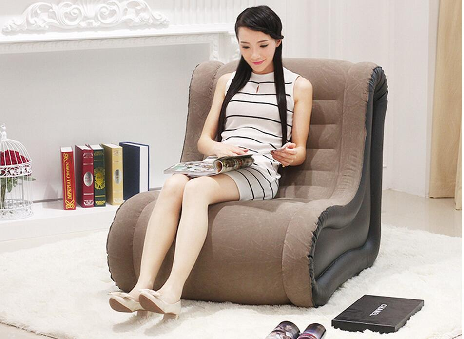 107*80*86cm Lazy Sofa Casual Blonde Sofa Bed Creative Single Foldable Super Luxury Loungers Seat