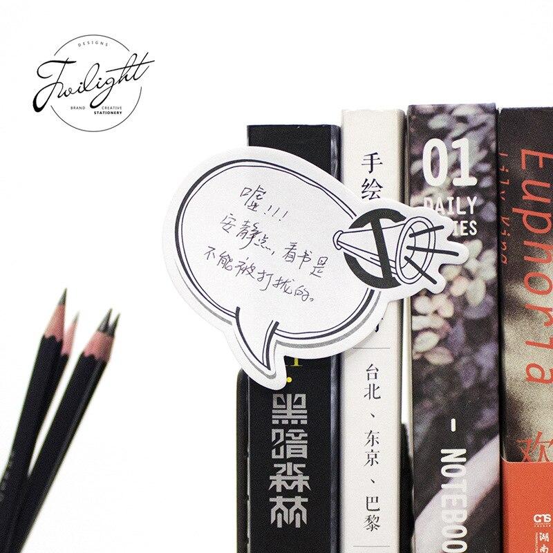 12 sets/1 lot Creative Anime conversation Memo Pad Sticky Notes Escolar Papelaria School Supply Bookmark Post it Label