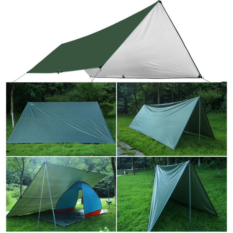 Imperméable à l'eau en plein air Camping survie abri soleil ombre Portable ultra-léger bâche auvent argent manteau Pergola imperméable tente de plage