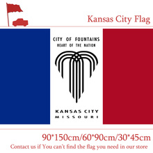 Free shipping Kansas City Flag Of Missouri State 30*45cm Car 90*150cm 60*90cm 3*5ft Hanging