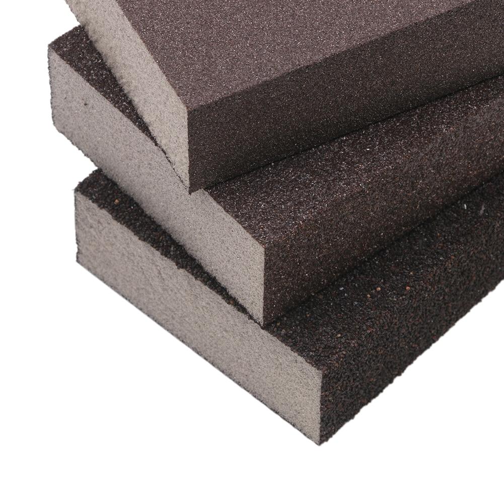 Купить с кэшбэком 3pcs Polishing Sanding Sponge Block Pad Set Sandpaper Assorted Grit 100 180 320