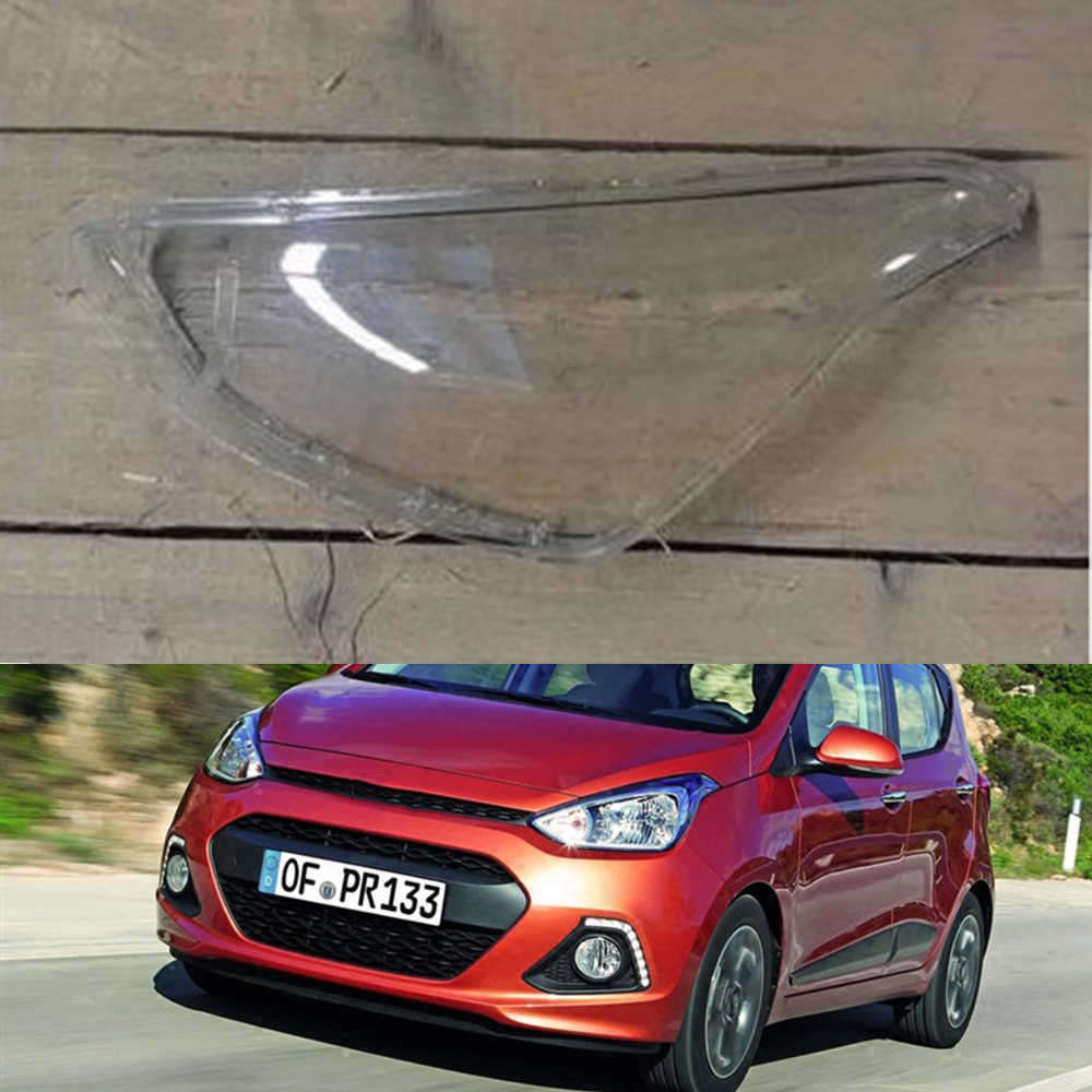 Voor Hyundai i10 2014 2015 2016 Auto Koplamp Koplamp Clear Lens Auto Shell Cover