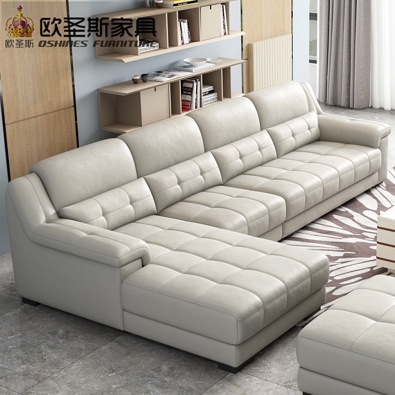 . US  190 8 10  OFF New Arrival Livingroom Latest Sofa Designs 2019 Sectional  Corner L Shape Modern Euro Design Nova Leather Sofa OCS K009 in Living