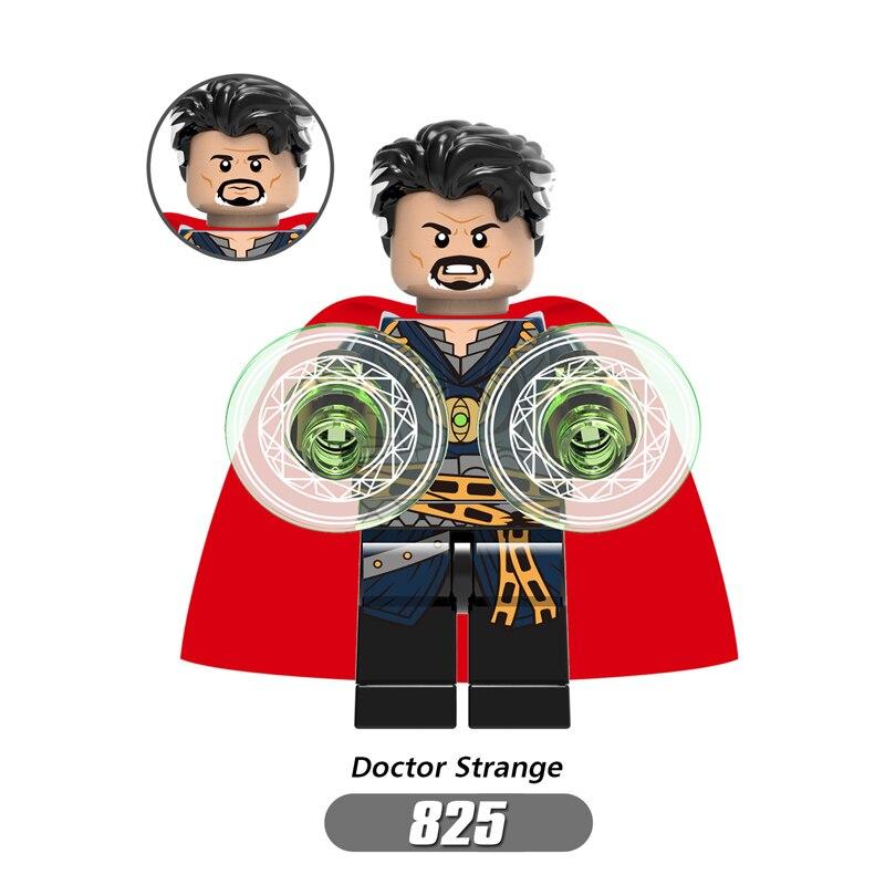 For legoing Marvel Super Heroes Avengers Doctor Strange Thanos Spider Man Iron Man Hulk Thor Building Blocks Toys Figures