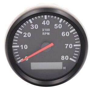 Image 3 - 85mm เรือรถ TACHOMETER, auto มอเตอร์ TACHOMETER สำหรับเครื่องยนต์ดีเซลเบนซินสีแดง 0 9990 RPM 12 V 24 V Lap TIMER เมตร