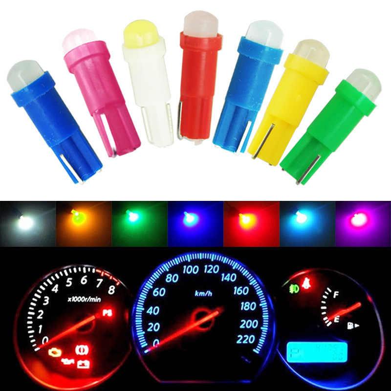 1pcs T5 COB Car dashboard light instrument Automobile Door Wedge Gauge reading lamp bulb Car Styling white blue 12V