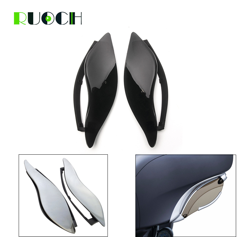 For Harley Touring Air Deflectors Fairing Side Batwing Windscreen Wind Deflector Electra Glide Street Glide and Tri Glide 14-17For Harley Touring Air Deflectors Fairing Side Batwing Windscreen Wind Deflector Electra Glide Street Glide and Tri Glide 14-17