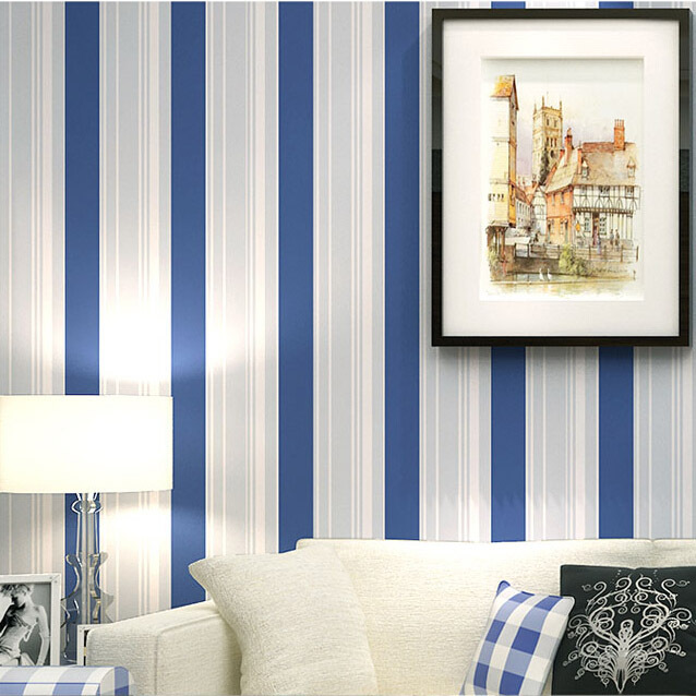 Selleru0027s Boys Bedroom Wallpaper Mediterranean Blue Striped Nature Wallpapers  For Boys Room Wall Papel De Parede Infantil In Wallpapers From Home  Improvement ...