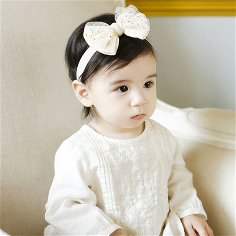 Fashion 1pc Kids Unisex Cute Bowknot Stars Elastic Lovely Girl Pricess Headband  Accessories Gifts