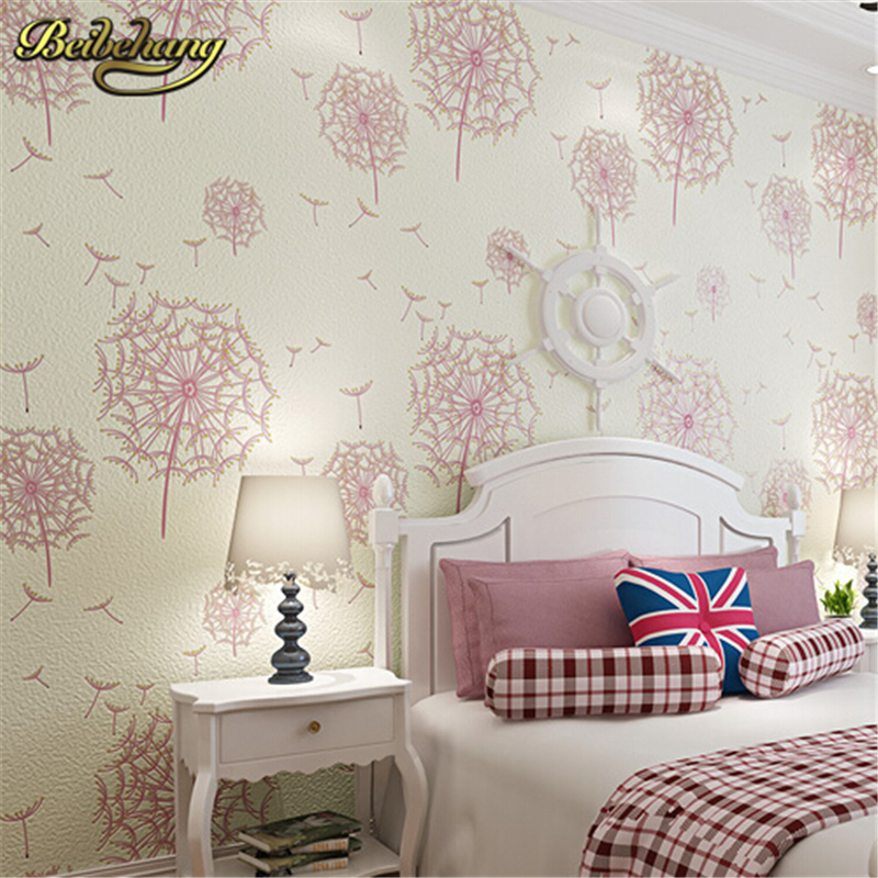 beibehang non-woven American rustic flower wall paper roll tapete papel de parede 3d wallpaper for living room, girl's bedroom rustic wallpaper 3d stereoscopic wallpaper roll non woven pastoral wallpaper for walls bedroom wall paper pink for living room