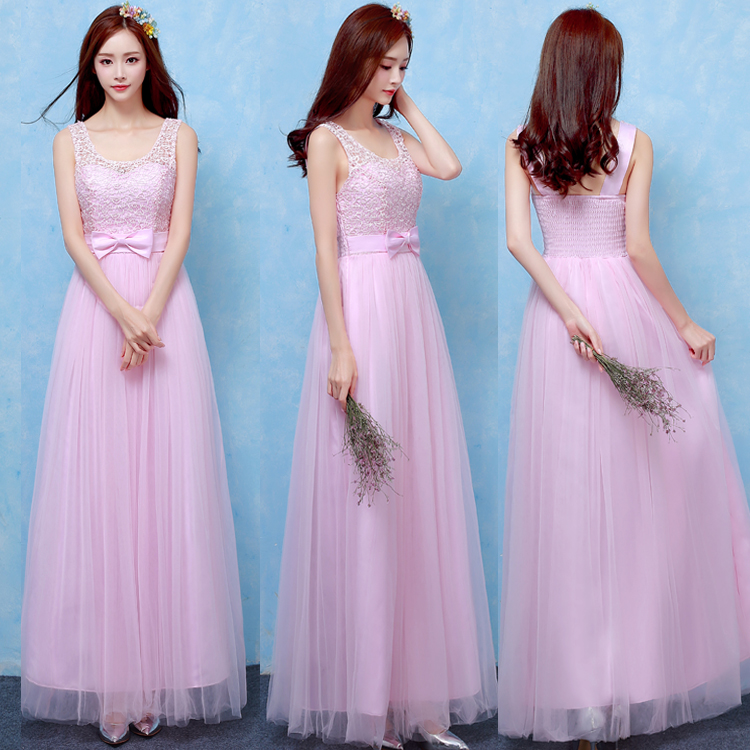 Sweet Memory beautiful pink bridesmaid dresses for performance wedding party  guests sisters dresses SW180419 003525321565