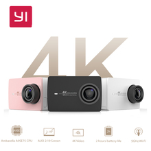 "YI 4 Karat Action Kamera Internationalen Version Ambarella A9SE Sport Kamera 12.0MP CMOS EIS 2,19 ""LDC Retina Screen WIFI Mini Intelligente DV"