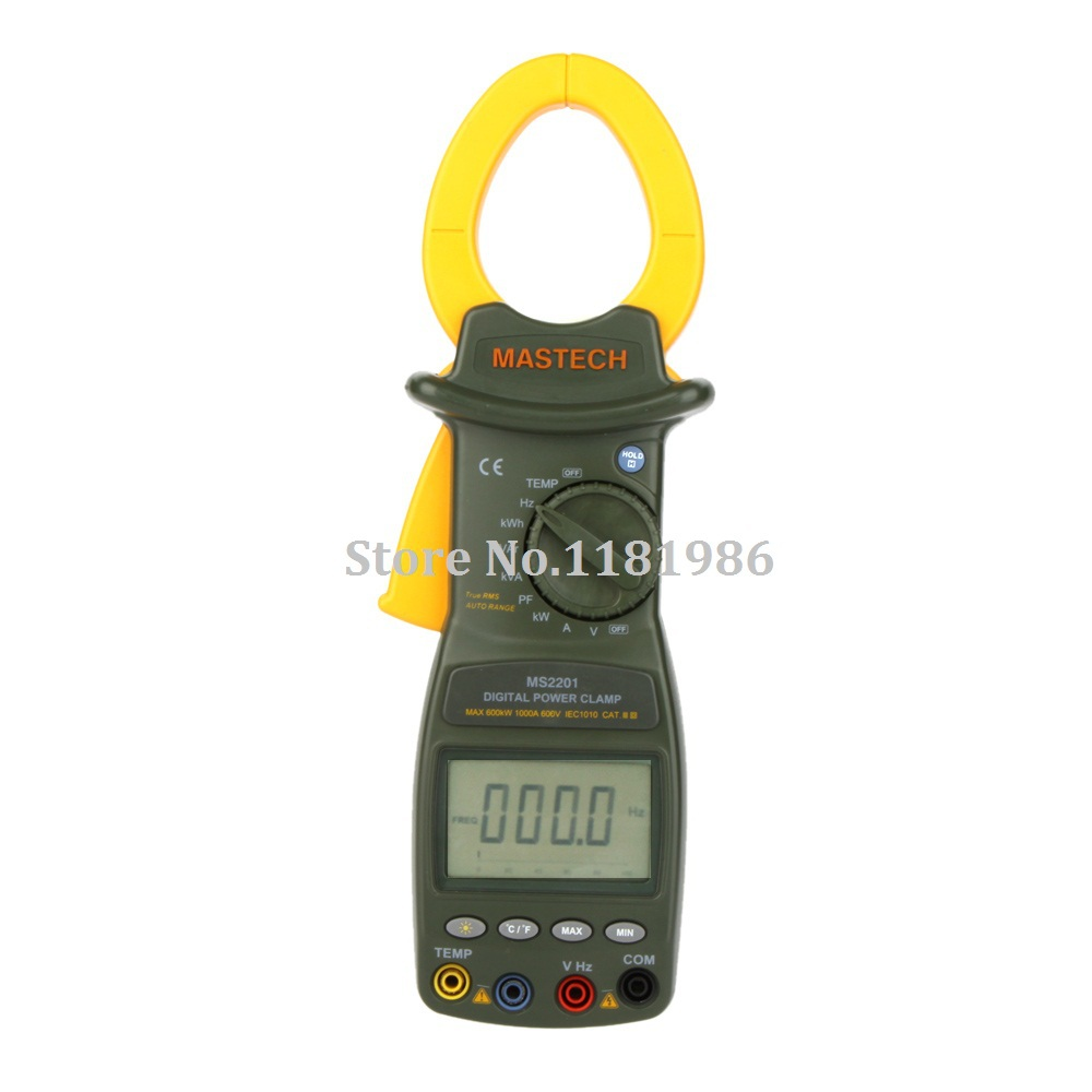 MASTECH MS2201 True RMS Auto Range Digital Power Clamp Meter Wattmeter Power Factor Meter Ammeter Voltmeter Watt Meter</fo
