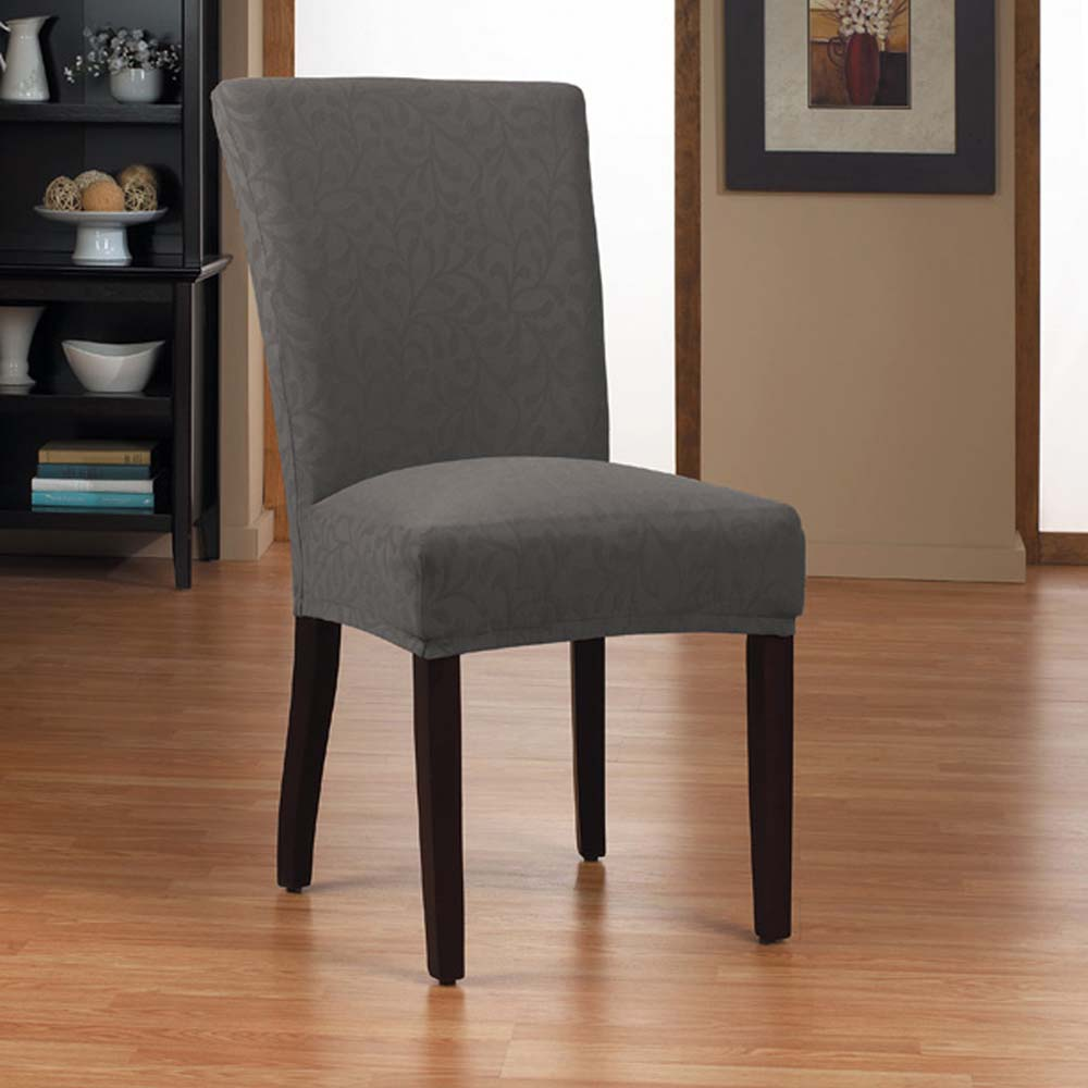 Interesting Sure Fit Stretch Pique Shorty Dining Room Chair ...