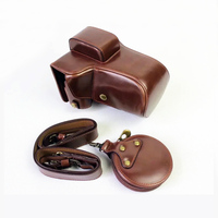 PU Leather case Camera bag For Fujifilm Fuji X E3 XE3 XE 3 portable cover With Battery Opening