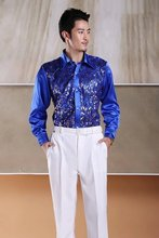 wedding ceremony shirt blue for groom shirt males top quality customized made measurement 2017