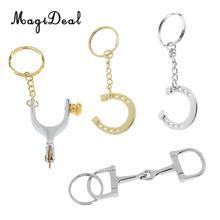 MagiDeal цинковый сплав новинка брелок в виде подковы брелок для ключей держатель серебро/золото