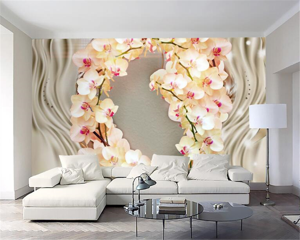 Photo Wallpaper Artificial Flowers GIANT WALL DECOR PAPER POSTER FOR BEDROOM