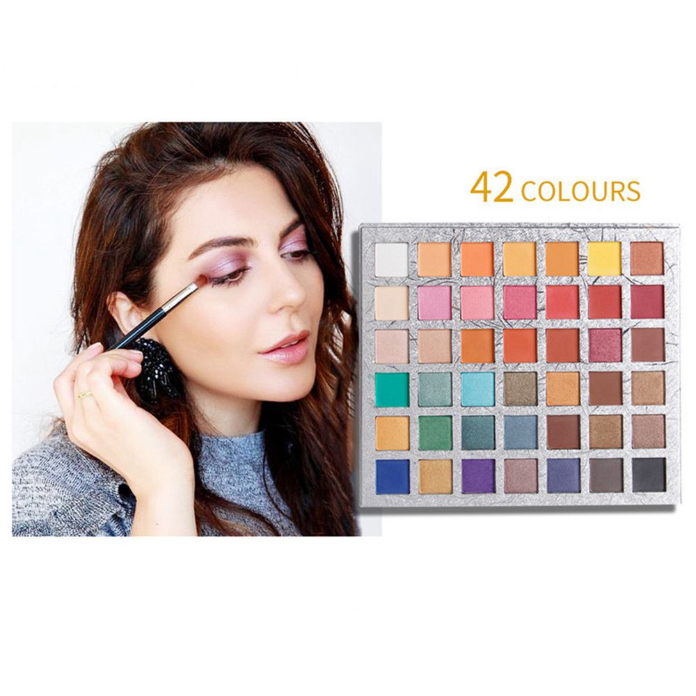 Qibest Matte Eyeshadow Palette Shimmer Nude Glitter Makeup Eyeshadow Palette Paletas De Sombras 42 Colors Rose Pigment Eyesahdow in Eye Shadow from Beauty Health