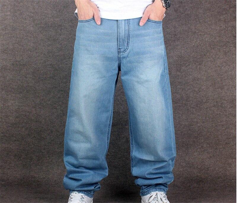 NEW Men's loose big size jeans hip-hop HIP HOP skateboard pants baggy jeans denim rap pants for men Four Seasons size 30-46