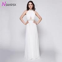 Backless Sexy White Diamond Chiffon Evening Parties Dress Wedding 2018 Summer Fashion High End Temperament Ladies Goddess Dress
