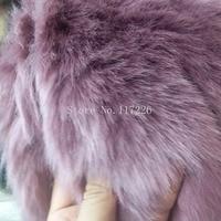 Heavyweight 5 yards long faux fox fur fabric for coat DIY Accessories top dyed melange fluffy fur JRB 65894